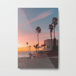 California Beach House Goals Metal Print