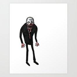 Dead Man Walking Art Print