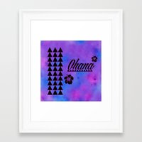 ohana Framed Art Prints featuring Ohana by Lonica Photography & Poly Designs