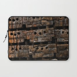 Charred Wood Boxes Laptop Sleeve