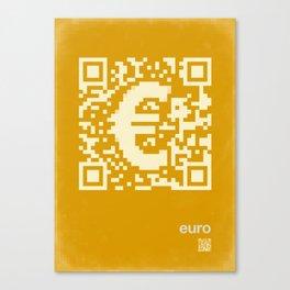 QR euro Canvas Print