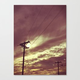 Wires and Sky Canvas Print