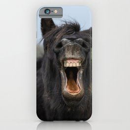 Horse Showing His Teeth iPhone Case