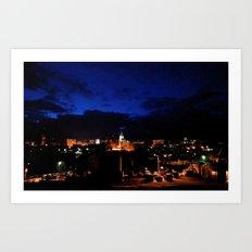 Greensburg Nights Art Print