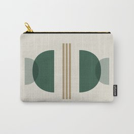 Emerald Abstract Half Moon 2 - Green Carry-All Pouch