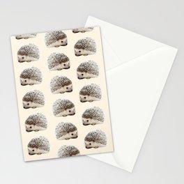 cute beige woodland animal baby hedgehog Stationery Cards