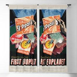 51 Pegasi b - NASA Space Travel Poster Blackout Curtain