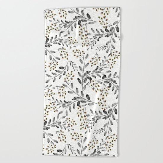 Delicate floral pattern. 1 Beach Towel
