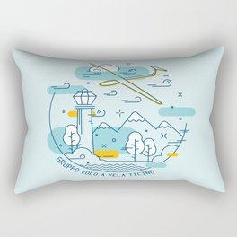 GVVT - Line art colors version Gruppo Volo a Vela Ticino Rectangular Pillow