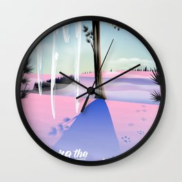 Explore the Wilderness! Wall Clock