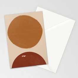 Burnt Orange Sun, New Boho Stationery Cards