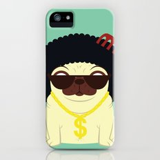 Pug in bling Slim Case iPhone (5, 5s)
