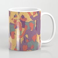 rave Mugs featuring Rave from nineties by Saprykinandrey