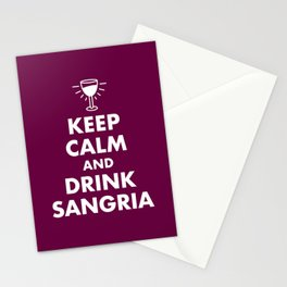 Keep Calm and Drink Sangria Stationery Cards