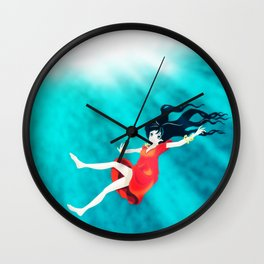 My Manga Girl - Under the Water Wall Clock
