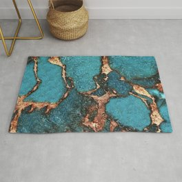 GEMSTONE  & GOLD AQUA Rug