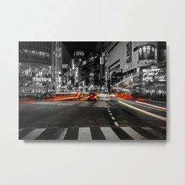 Shibuya Blur Metal Print