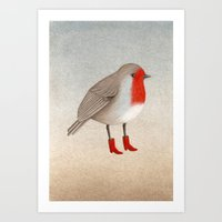 robin Art Prints featuring Robin by Hana Stupica
