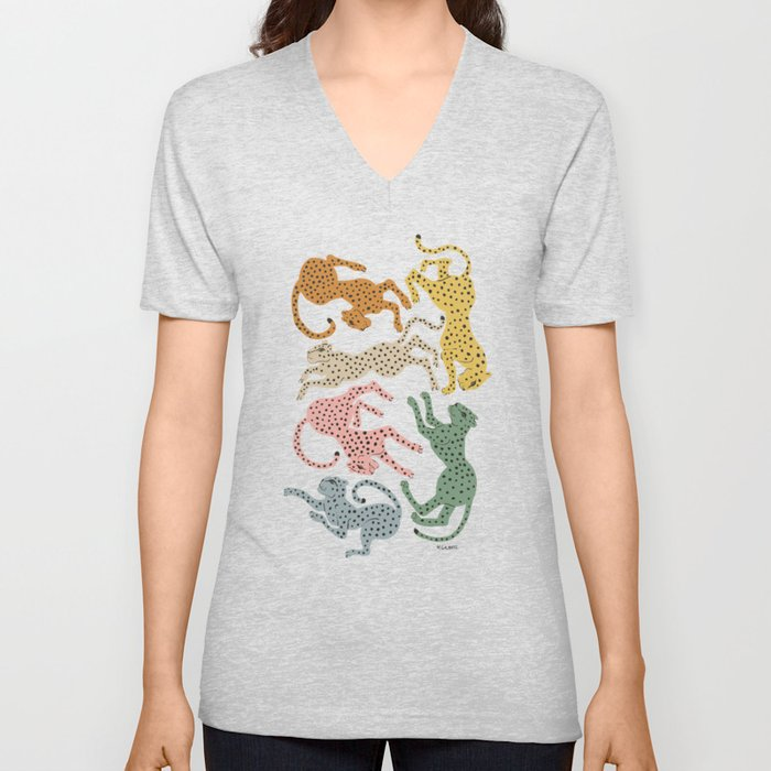 Rainbow Cheetah Unisex V-Neck