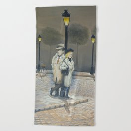 Midnight in Paris Beach Towel