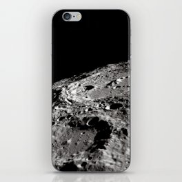 Terraced Wall Crater on the Lunar Limb iPhone Skin