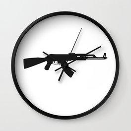 AK-47 kalashnikov assault rifle #society6 #decor #buyart #artprint Wall Clock