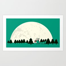 Christmas fell on Wednesday that year Art Print