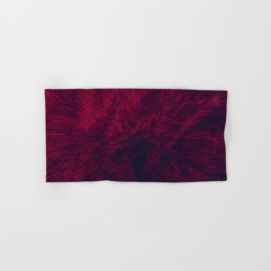 Bold Burst in Red Hand & Bath Towel