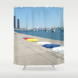 Chicago, Chicago shoreline, Skyline, Lake Michigan Shower Curtain