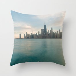 Tonight -Chicago Skyline Photography Throw Pillow