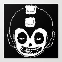 mega man Canvas Prints featuring MISFITS MEGA MAN SKULL by UNDEAD MISTER / MRCLV