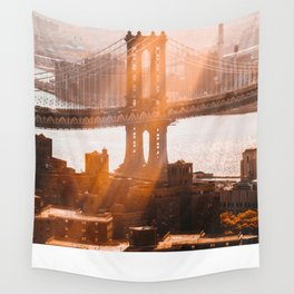 New York at 9 AM Wall Tapestry