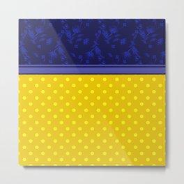 The yellow-blue combo pattern. Metal Print