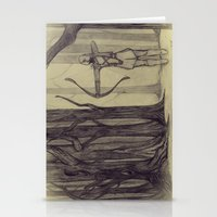 lotr Stationery Cards featuring Legolas LOTR - the noisy silence of woods by Blanca MonQnill Sole