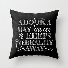 A Book A Day... Throw Pillow