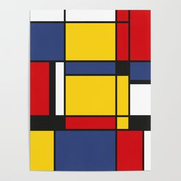 Downtown, Tribute to Mondrian Poster