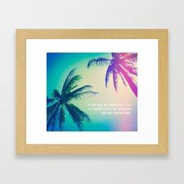 Keep on Looking up. Framed Art Print