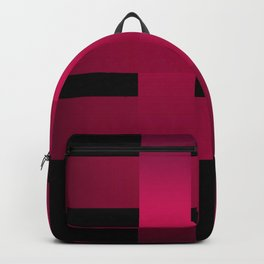 Satin red ribbons on black . Backpack