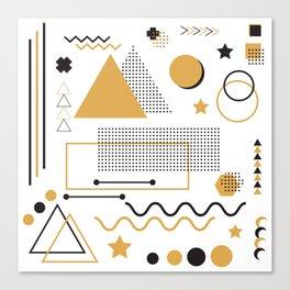 Memphis Pattern Design Canvas Print