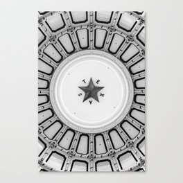 Texas Star in the Dome of State Capitol - Monochrome Canvas Print