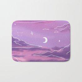 Purple Sunset View Bath Mat