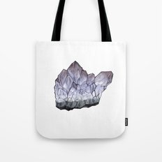 Purple Crystal Tote Bag