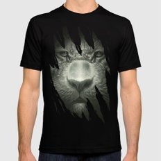 Tiger Black Mens Fitted Tee X-LARGE