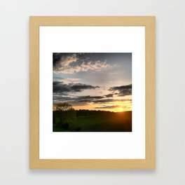 Another Tennessee sunset Framed Art Print