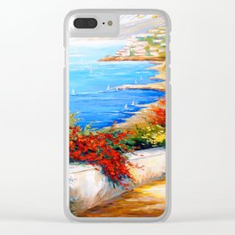 Bright day by the sea Clear iPhone Case