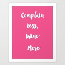 Wine O'clock Art Print