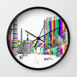 Color-Block Capriccio Wall Clock