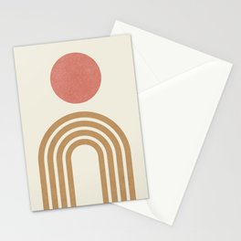 Mid century modern pink Stationery Cards