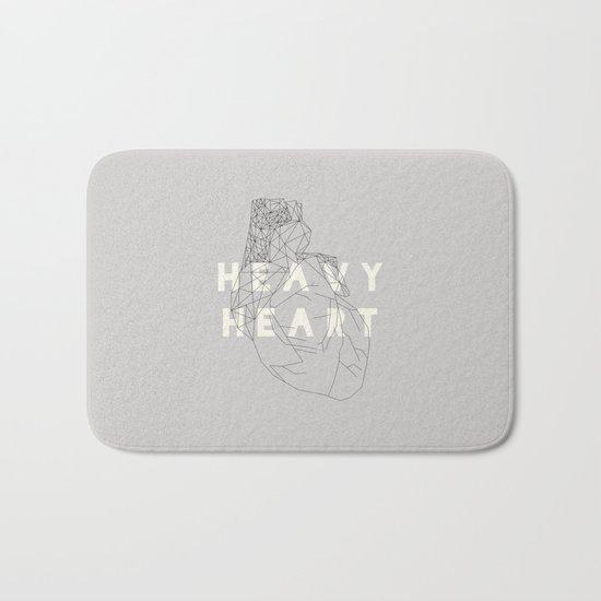 Heavy Heart Bath Mat