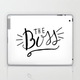 The Boss - black/white Hand lettering Laptop & iPad Skin